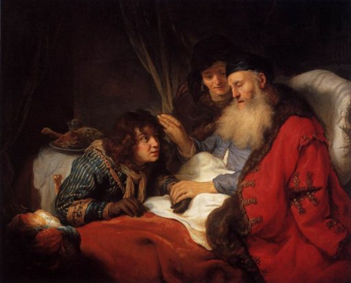 La bénédiction de Jacob par Isaac, un tableau de Govert Flinck