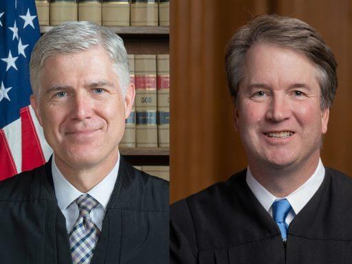 Portraits officiels des juges fédéraux Neil Gorsuch et Brett Kavanaugh
