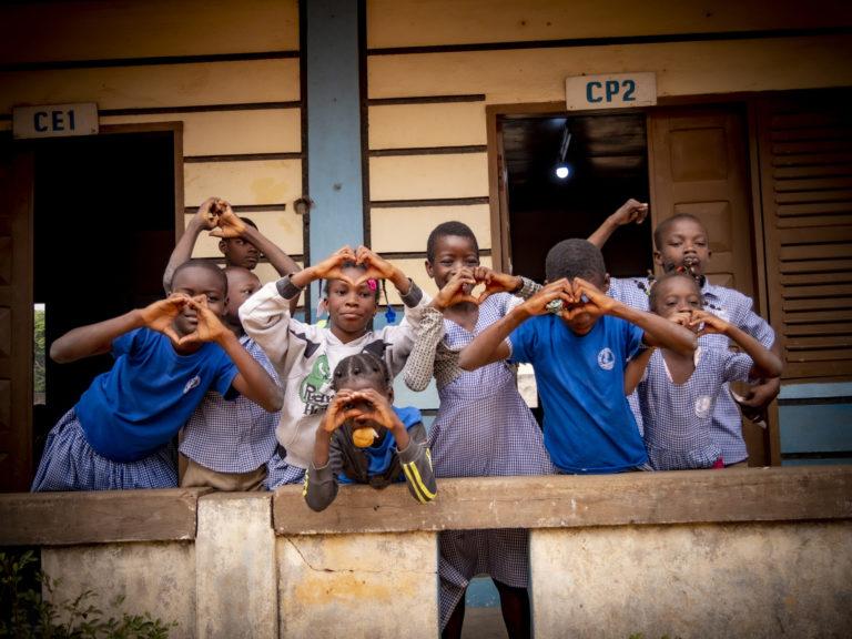 Des enfants soutenus par le SEL au Togo