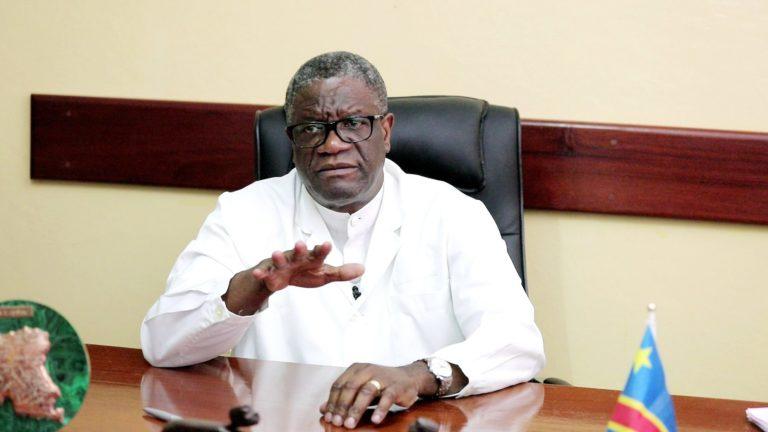Denis Mukwege dans son bureau