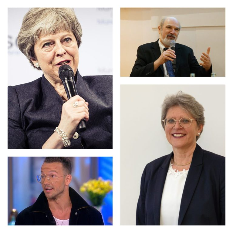Galerie de portraits de Theresa May, Thomas Schirmacher, Carl Lentz et Rita Famos