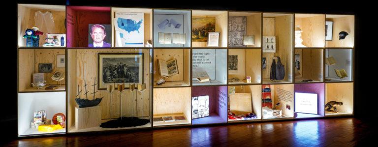 Visuel de l'exposition «Calvin en Amérique» mise sur pied au Musée international de la Réforme (MIR) de Genève.