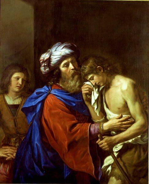 Le retour du fils prodigue de Giovanni Francesco Barbieri, dit Guercino ou le Guerchin. XVIIe siècle