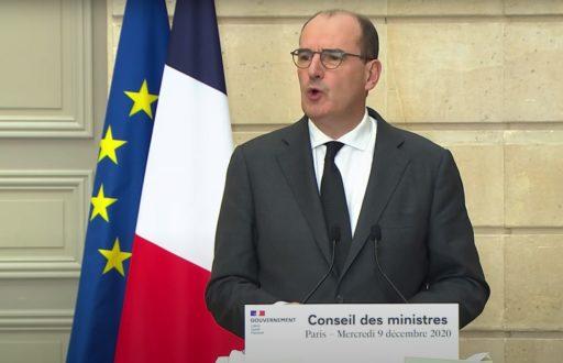 Le Premier ministre Jean Castex à la sortie de Conseil des ministres le 9 décembre.