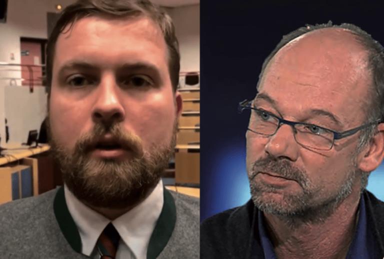 Les journalistes Pierre Jova et Henrick Lindell