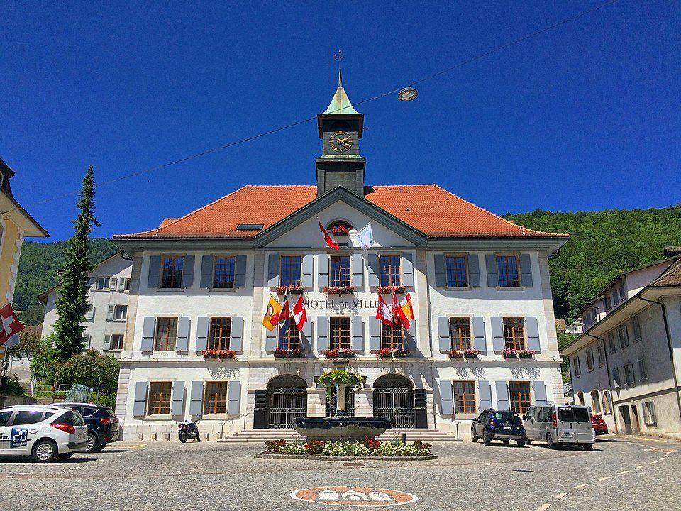 L'Hotel de Ville de Moutier, en Suisse