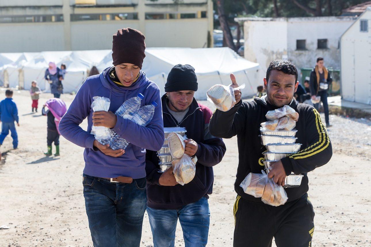 Des réfugiés syriens en Grèce