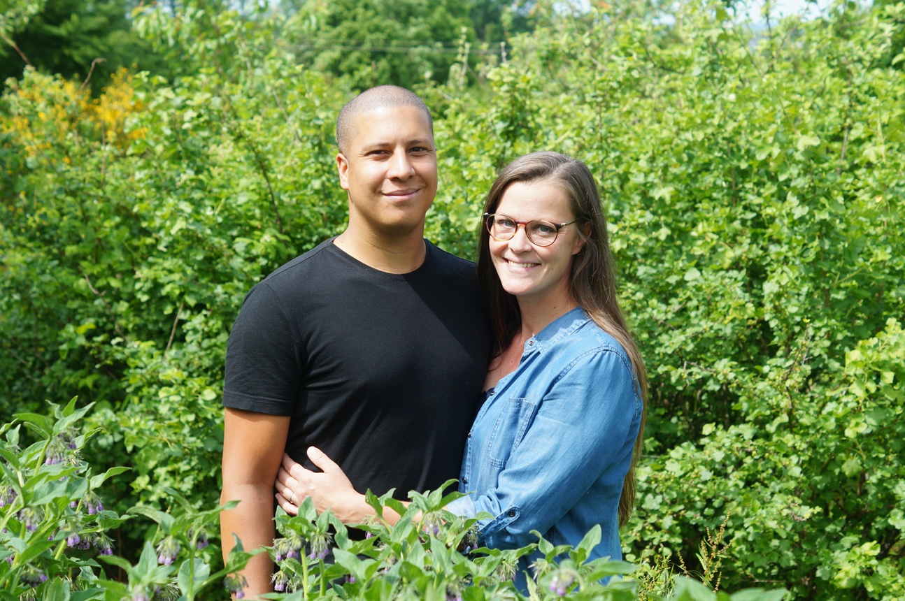 David et Olivia de la ferme de la Goursaline