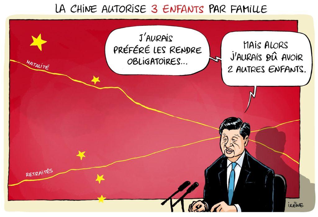 La Chine autorise trois enfants par famille