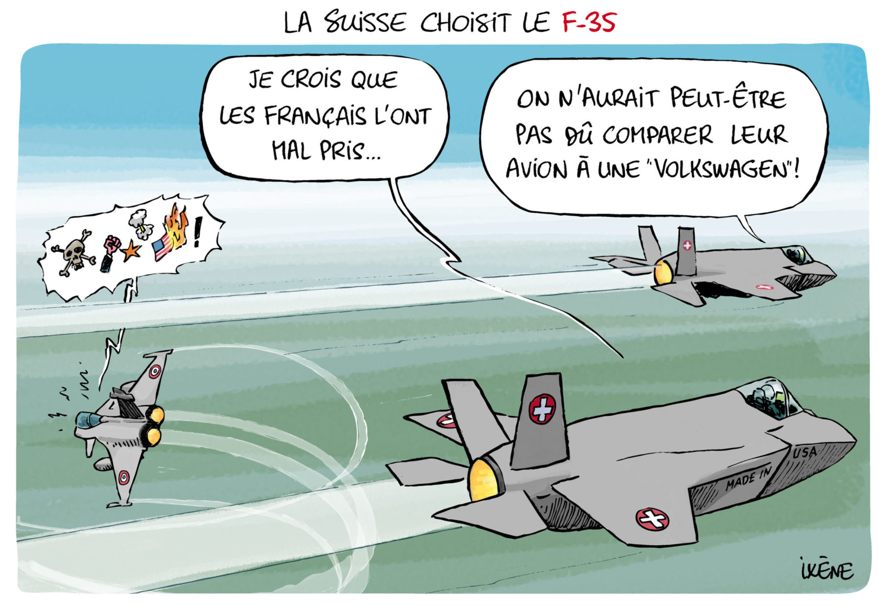 La Suisse choisit le F-35
