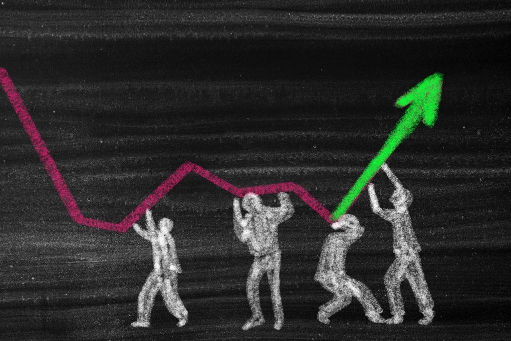 Concept économique de récession et de crise financière